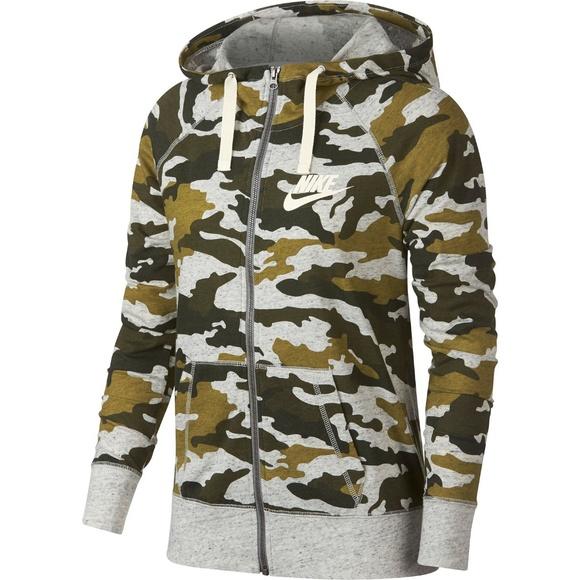 Zip Up Camouflage Vintage Camo Lightweight Jacket